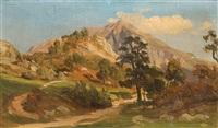 landschaftsskizze (sketch) by friedrich metz