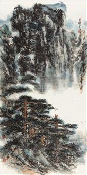 山水松树 by ma peng
