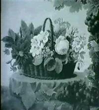 stilleben med blomsterkorg by hanne elise jacobsen