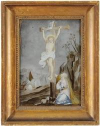vor gewolktem himmel christus am kreuz by anna barbara abesch