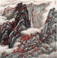 黄山红叶 by deng huibo