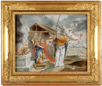 könig davids brandopfer auf der tenne des jebusiters aravnas by anna barbara abesch