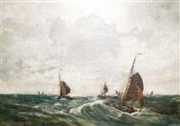 segelboote vor scheveningen by charles paul gruppe
