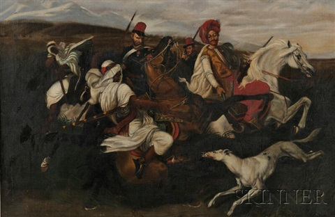 orientalist calvary scene by continental school 19