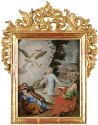 christus am ölberg, dem ein engel mit kreuz und kelch erscheint by leodegar meyer