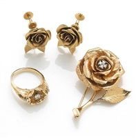 a collection of rose motif jewelry (set of 3) by krementz