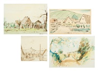 landschaftsdarstellungen (4 works) by emil bizer