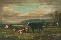 kühe auf der weide by clement (charles-henri) quinton