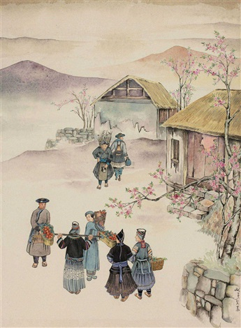 春到苗寨 the spring back to the miao village by pang xunqin
