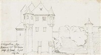 sechs bleistiftzeichnungen (6 works) by august wilhelm julius ahlborn