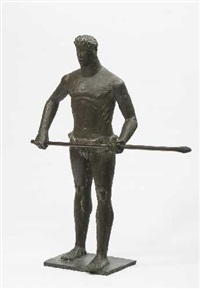 olympionike mit speer by josef wackerle
