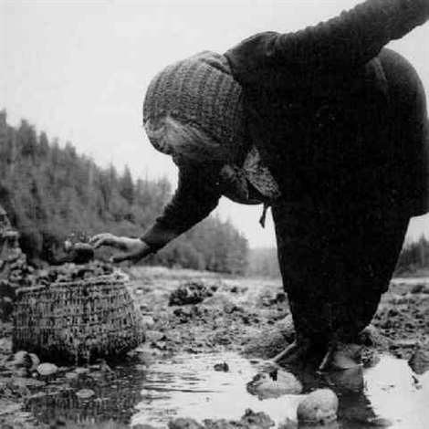 kwakiutl woman claim digger blunden harbour bc canada by william heick