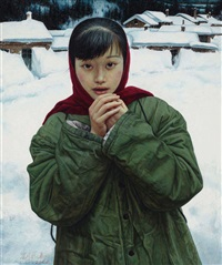 青春纪事之五—边疆雪 (the memory of youth no.5-snowy border land) by liu kongxi