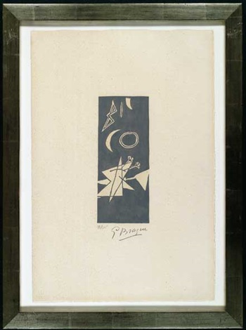 ciel gris ii by georges braque