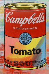 campbell's chicken noodle, cream of mushroom and cream of tomato soups by steve kaufman