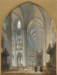 inneres einer kathedrale by johannes bosboom