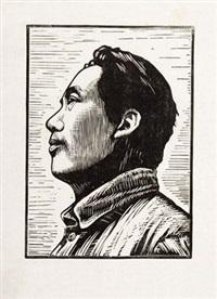 毛主席像 by liu zhengting