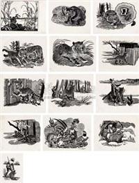 风景版画 (十三幅) (13 work) by jiang mi