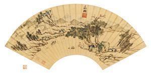 凭江追远 landscape by wen zhengming