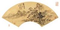 仿黄鹤山樵笔意山水图 (landscape) by qi zhijia