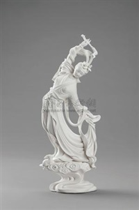 嫦娥 (chang'e, dehua kiln porcelain sculpture) by xu xingze