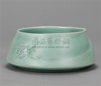 春山兰 青瓷钵 (spring mountains, green-glazed bowl) by xu yushan