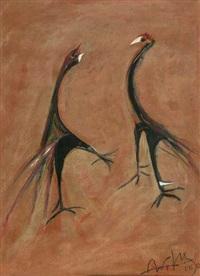 los gallos (zwei vögel) by wifredo lam