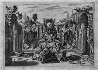 allegorische darstellung eines konzertes in einer grottenanlage by epifanio d' alfiano