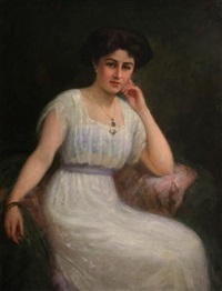 a portrait of a lady in white by charles goldsborough anderson