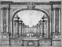 szenen zu francesco cavallis festspiel hipermestra (8 works) by silvio degli alli