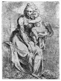 die madonna mit kind (after parmigianino) by giovanni battista d' angeli