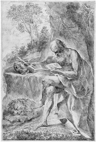 der hl hieronymus in der wüste by francesco amato