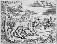 romulus und remus (after giulio romano) by battista angolo del moro
