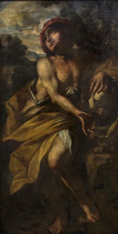 david with the head of goliath by giovanni battista spinelli
