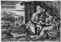 die madonna mit dem christuskind, dem johannesknaben und der hl. elisabeth by battista angolo del moro