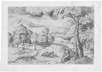 landschaft mit hirten by giovanni battista d' angeli