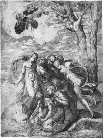 die auffindung des mosesknaben by giovanni battista d angeli
