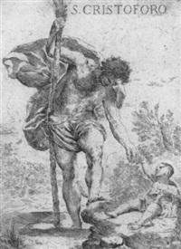 der heilige christopherus mit dem kinde by francesco amato