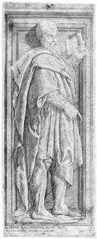 ein stehender mann mit schriftrolle, nach rechts gewandt by baccio bandinelli