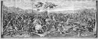 die schlacht an der milvischen brücke - sieg constantins über maxentius after raphael; on 4 joined sheets) by petrus aquila