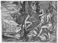 perseus, merkur und minerva by giovanni battista d' angeli
