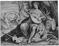 allegorie auf die musik oder: junge lautenspielerin den gehörsinn darstellend by jacob de backer