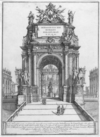 arco trionfale (after alessandro specchi) by francesco faraone aquila
