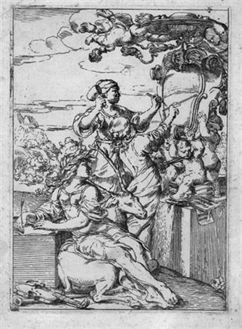 allegorie der künste malerei poesie und skulptur by domenico ambrogi