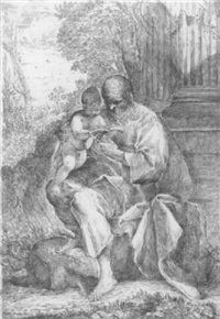 der heilige joseph mit dem christkind by francesco amato