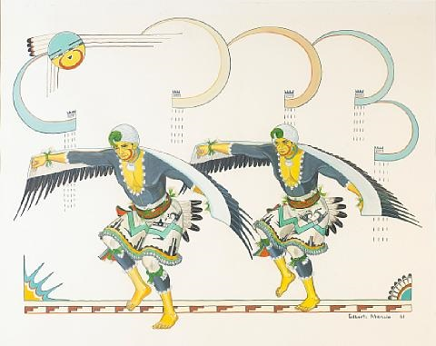 eagle dancers by gilbert atencio