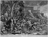 die rettung des jungen pyrrhus vor den molossern (after poussin) by gérard audran