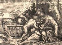 die madonna mit dem christuskind, johannesknaben und der hl. elisabeth by battista angolo del moro