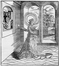 die hll. gudula, kunigunde und sigolina (3 works from die heiligen) by leonhard beck