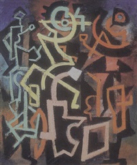 untitled abstraction by irving g. lehman